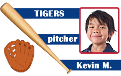 Baseball player ID card blue.