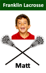 Lacrosse player custom ID badge.