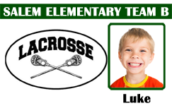 Lacrosse team ID badge template.