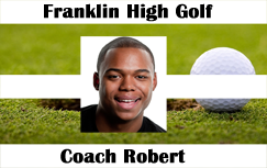Golf player horizontal id badge.
