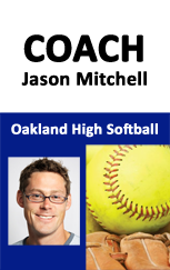 Softball coach id badge.