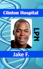 Hospital id badge